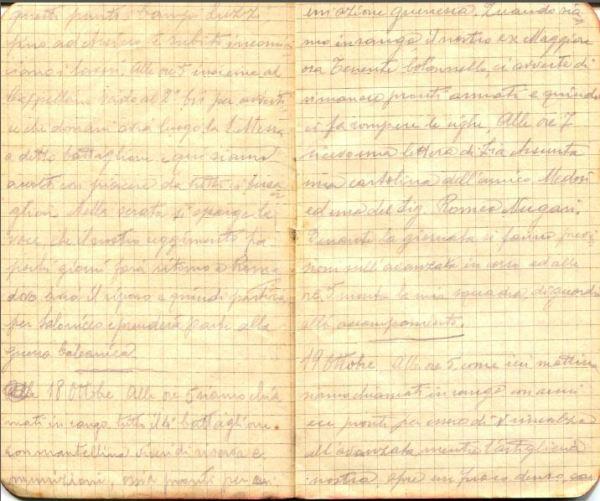 diari 18 ottobre 1915