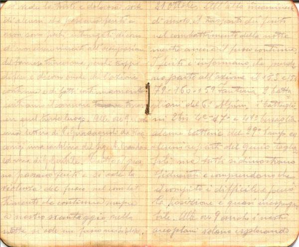 diari 21 ottobre 1915